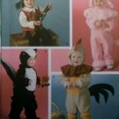 Simplicity 4018 Pattern, Toddler Pirate, Lamb, Skunk and Rooster Costume , Sz  ½ to 4,  UNCUT