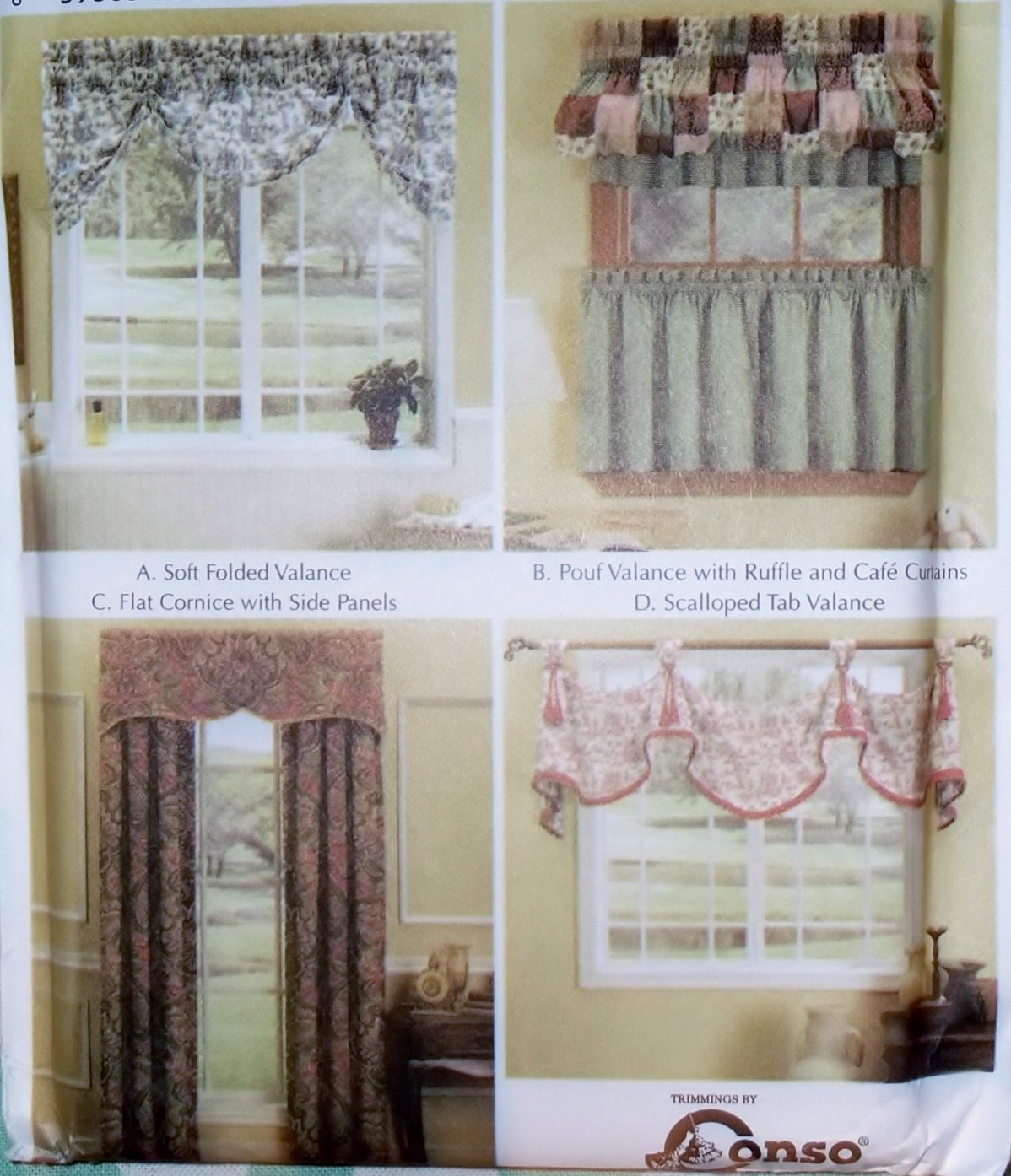 Easy Window Treatments Valances & Panels Simplicity Patterns 5603, All Sizes, Uncut