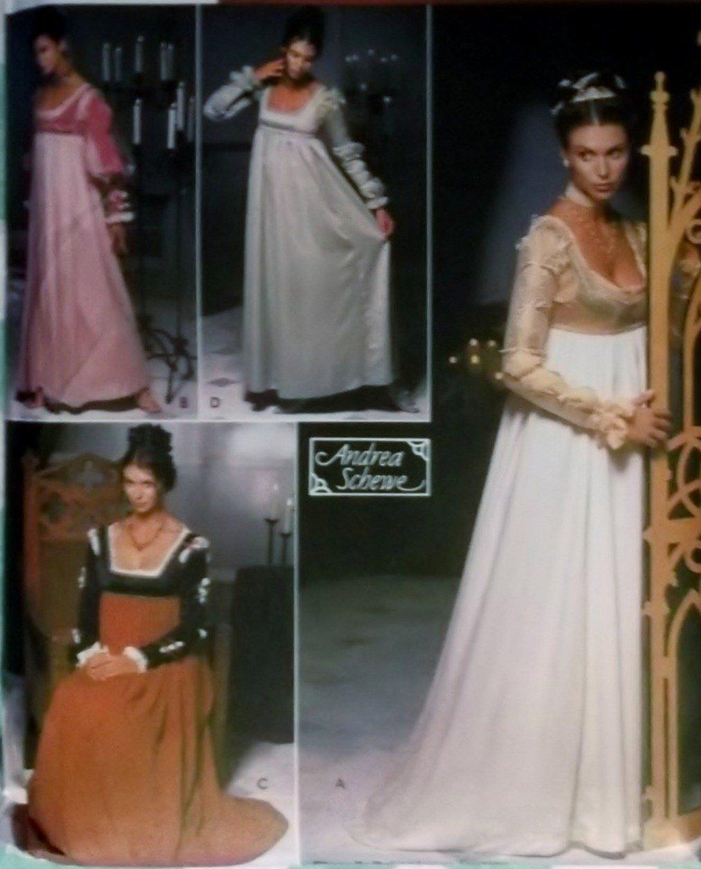Simplicity 9531 Misses Renaissance Gowns Costume Pattern, Size 6 8 10 12, Uncut