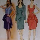 Butterick b 5811 Sewing Pattern, Misses' Dress and Peplum, Size 6 8 10 12 14, UNCUT