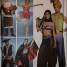 Simplicity 3999 Unisex Costumes Santa Ballerina Pirate + Pattern - Size S M L, UNCUT FF OOP
