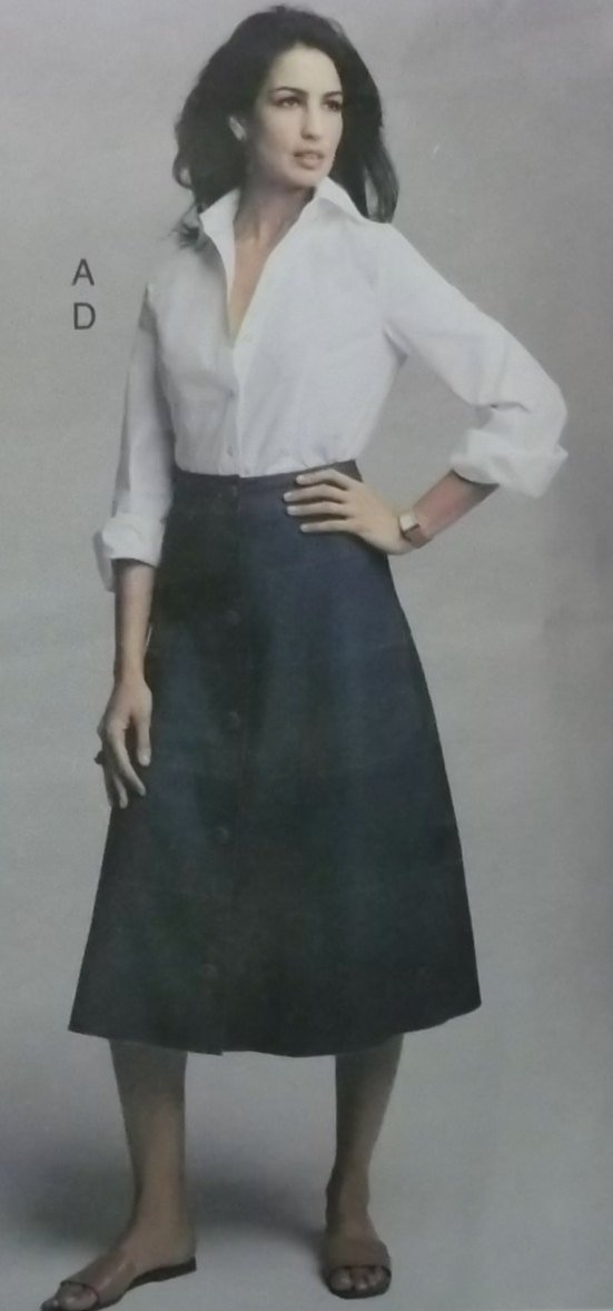 NYNY Design Misses or Petite Shirt & Tiered Skirts Vogue 2733 Sewing Pattern, size 12 14 16, Uncut