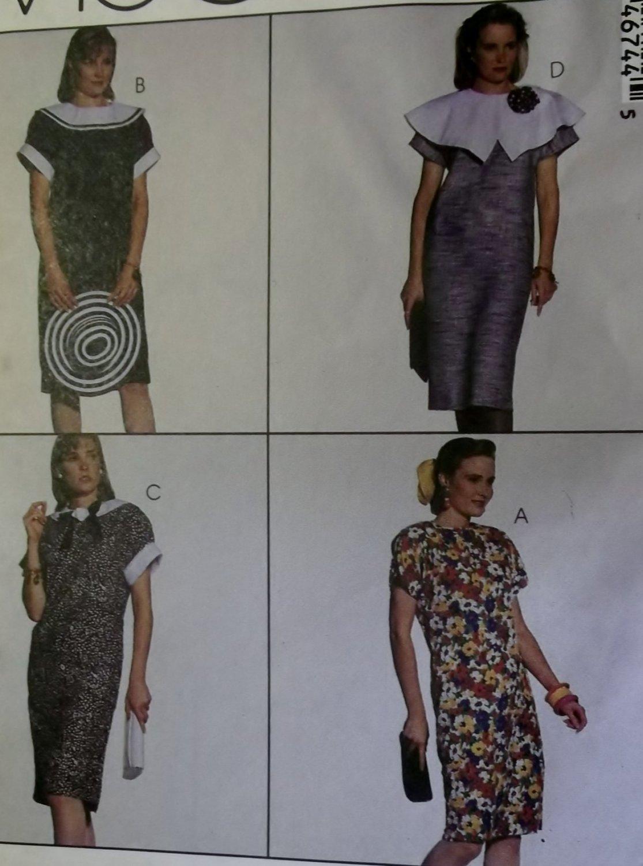 Easy Misses chemise Dress  McCall's 4674 Patttern, Sz 14 16 18, UNCUT