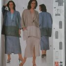 Easy Burda 8628 Jacket & Skirt Suit Pattern, Plus Size 14/16 18/20 22/24 26/28 30/32, uncut