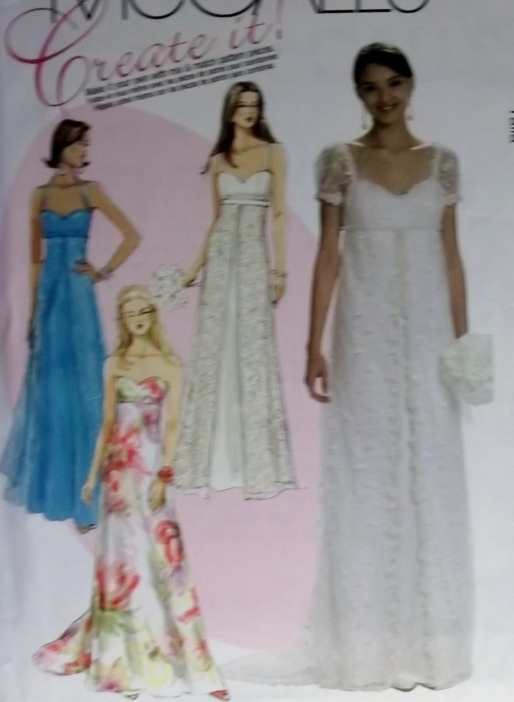 McCalls M 6030 Sewing Pattern, Create it! Misses' Dress, Plus Size 16 18 20, UNCUT