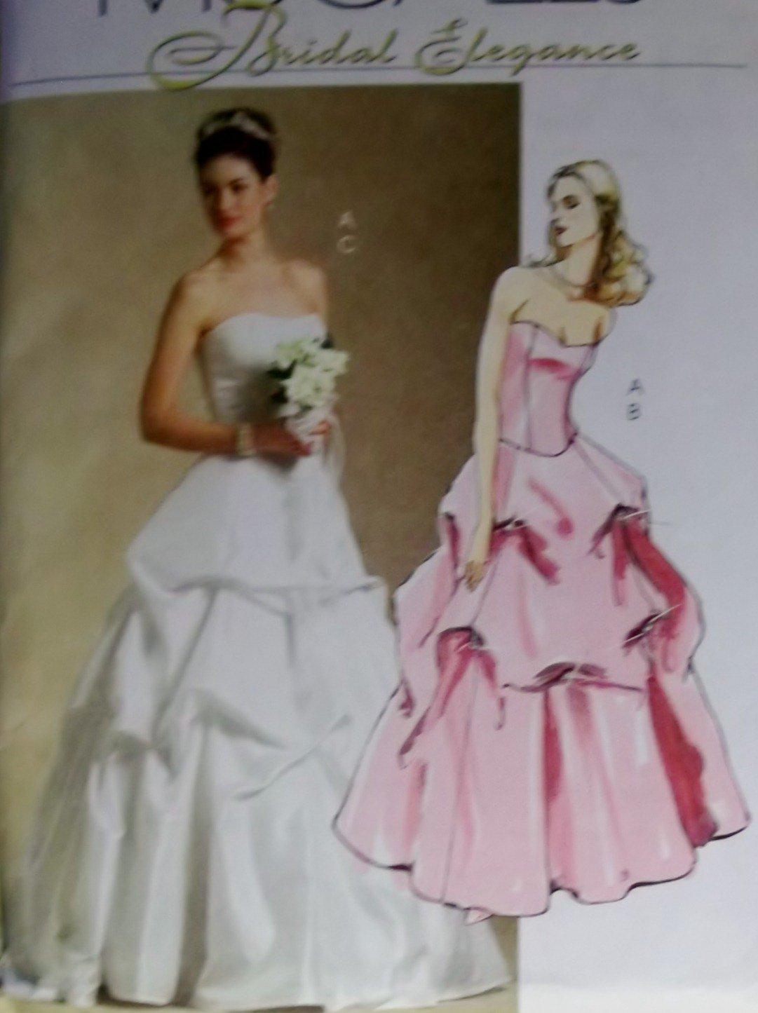 McCalls M5321 Sewing Pattern, Misses' Bridal Top Skirt, Size 6 8 10 12, UNCUT