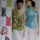 McCall's M6562 Pattern Misses lined Tops,  Size 4/6 to 12/14, Uncut
