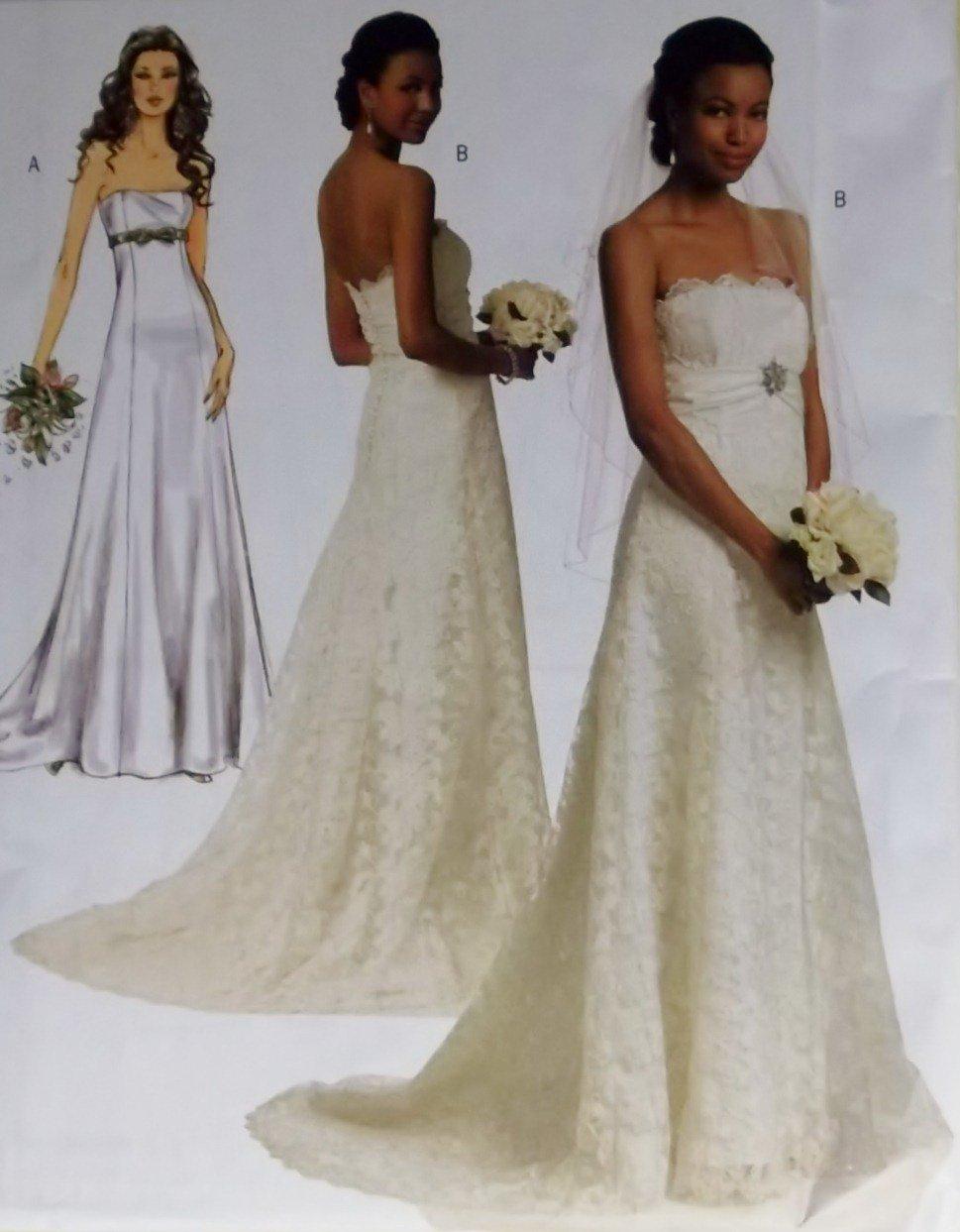 Butterick B 5325 Sewing Pattern, Misses' Bride Dress, Plus Size 14 16 18 20 22, UNCUT