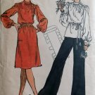Vintage Sewing Pattern Vogue 9029 Misses Gathered at Shoulders Blouse Tunic Top Dress Size 10