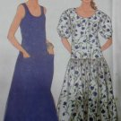OOP Easy Simplicity 9664 Misses Drop Waist Dress Pattern, Sz 10 to 20, Uncut