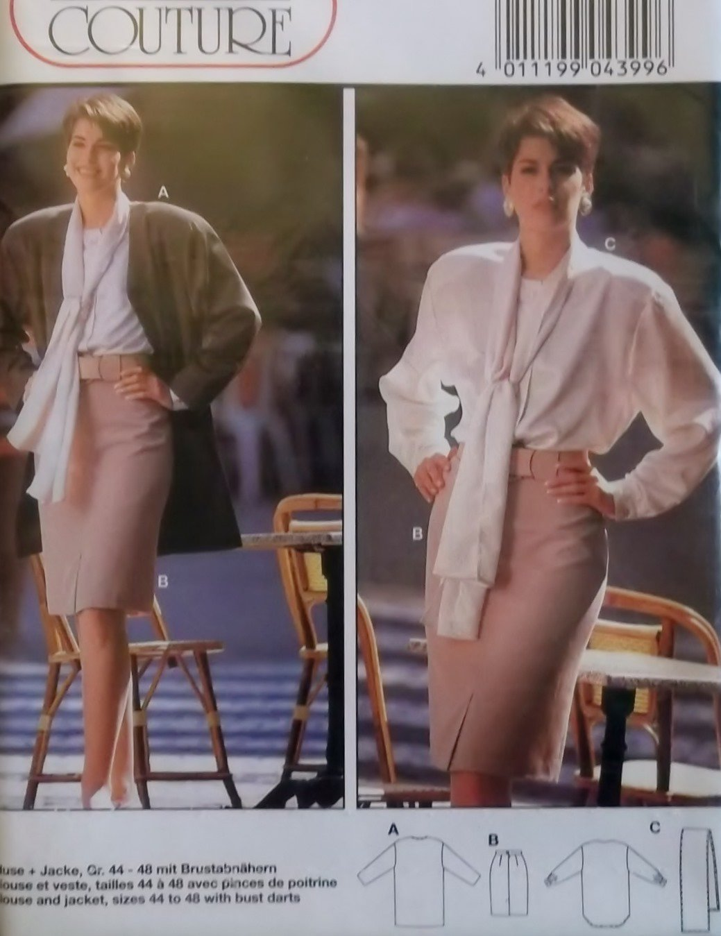 Burda 4399 Sewing Pattern Blouse Jacket Skirt ,  Plus Size  12 14 16 18 20 22, Sealed