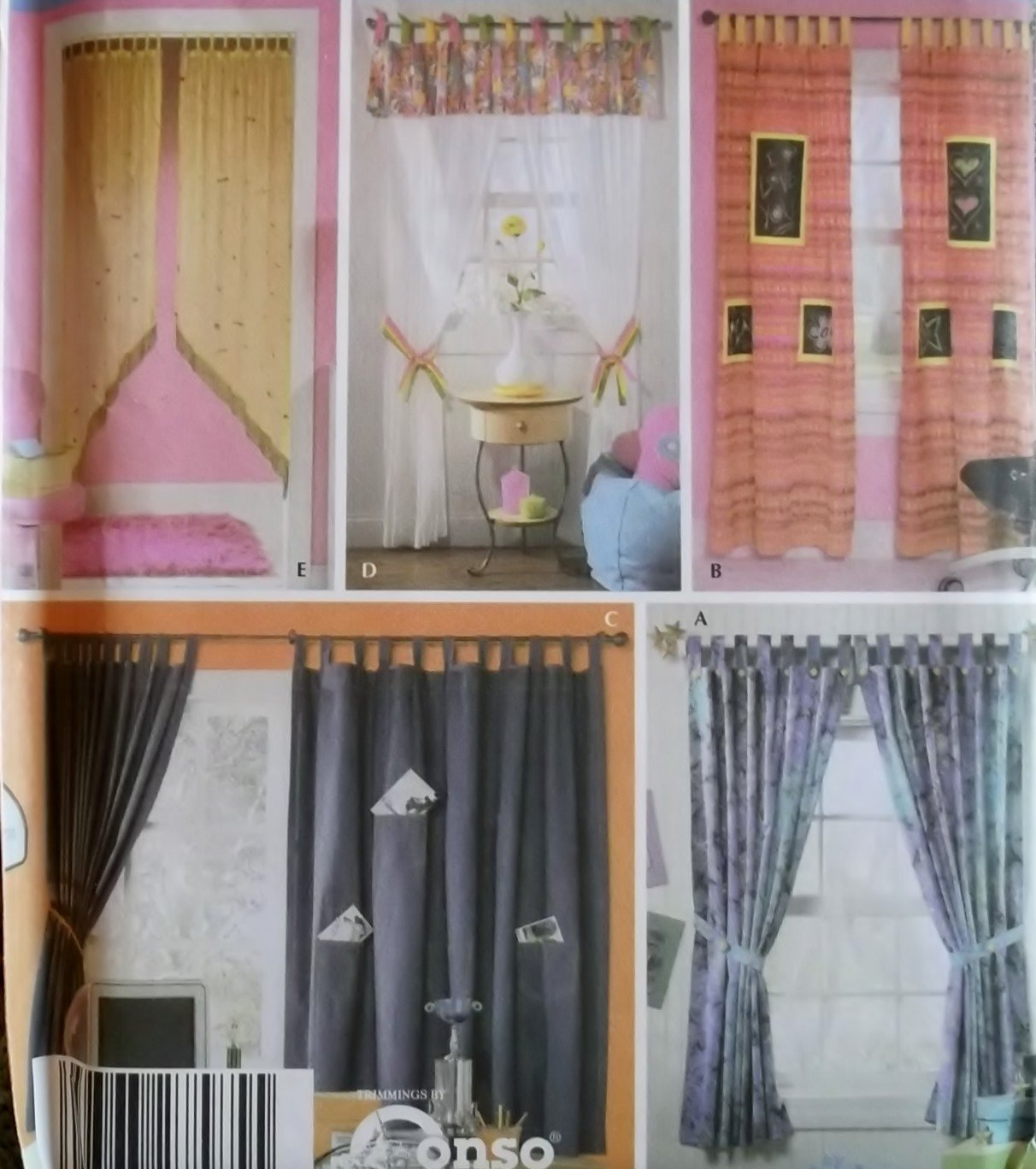 Easy window treatments simplicity 5121 patterns uncut for Professional window treatment patterns