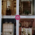 Easy 2 Hour Window Treatments McCalls 3704 Patterns, Uncut