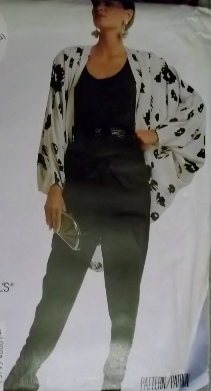 Easy Misses Cocoon Jacket Tank Top Pants McCalls 4000 Pattern, Size 10 12 14, Uncut