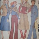 Vintage 70s McCalls 6327 Womens Jacket, Pants, Skirt & Shawl, Plus Sz 22 1/2, Uncut