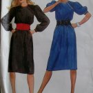 Vintage 1980s McCalls 8762 Misses Dress & Cummerbund Sewing Pattern, Sz 6 8, Uncut