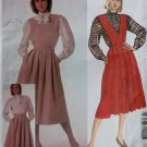 McCalls 2103 Misses Skirt Bib and Blouse Pattern,  Size 8, UNCUT