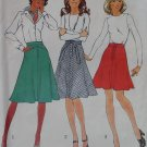 1970s Simplicity 6813 Misses Bias Skirts in two lengths Sewing Pattern, Size 14