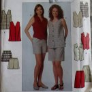 OOP Simplicity 8665 Misses or Petite Top and Shorts Sewing Pattern, Sz 14 16 18, Uncut