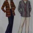 Unisex Easy Shirt and Pull on Pants  Simplicity 9131 Pattern, Sz XS To XL, Uncut