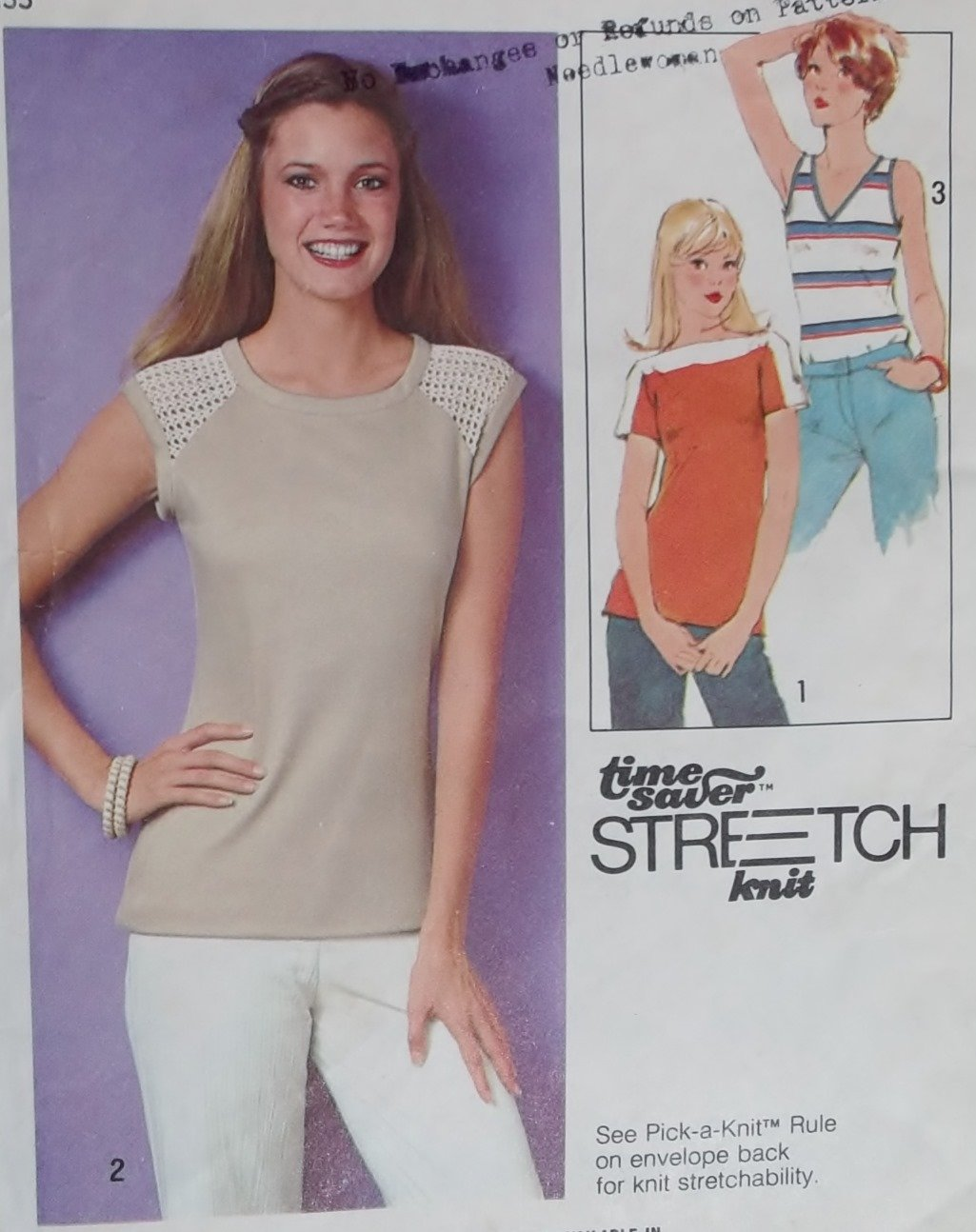 Vintage Easy Simplicity 8471 Misses Pullover Tops Pattern, Size 10, 12, 14,