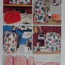 Vintage Simplicity 5495 Kitchen Appliance Covers & Chicken or Fried egg Potholder Pattern