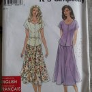 Simplicity 7197 so easy Misses Top and Skirt Pattern, Sz 6 to 16, Uncut