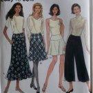 Easy Simplicity 7207 Misses Yoke waist Skirt & Split Skirt Pattern, Size 6 8 10, Uncut