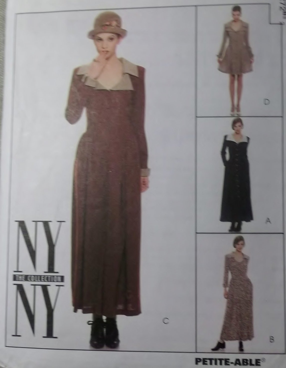 NY Collection Misses Princess Dress in two lengths McCalls 7827 Sewing Pattern, Size 8 10 12, Uncut