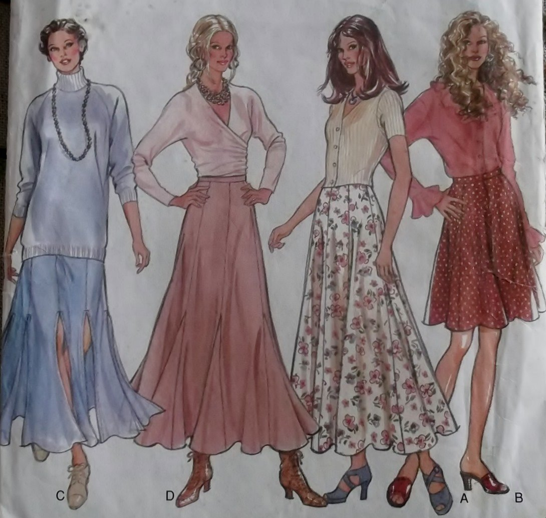 New Look 6279 Misses Skirt Pattern, Sz 8 to 18, Uncut