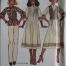 McCalls 6034 Annie, too! Misses Dress or Top & Vest Pattern,  Size 8, UNCUT