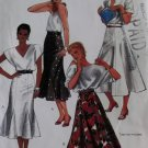McCalls 9451 Patterns Misses' Flared and Gored Skirts, Sizes 6, UNCUT