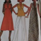 Vintage 1970s McCalls 6090 Misses Dress or Top Sewing Pattern, Sz 6 8, Uncut