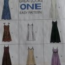 Misses' Sarong Dress in Two Lengths McCalls 7650 Sewing Pattern, Size 12 14 16, Uncut