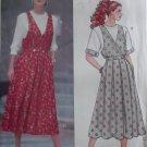 Easy Misses Mock Wrap Front Jumper & Top Butterick 5693 Pattern, Size 6 8 10, Uncut