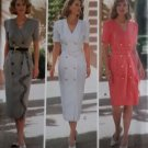 Beau David Design Double Breasted Misses' Dress Butterick 6746 Pattern, Size 6 8 10, Uncut