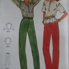 Easy Misses' Top and Pants Butterick 6485 Pattern, Size 6 8 10, Uncut