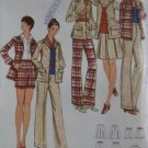 Misses' Shirt, Pants, Shorts & Skirt Butterick 6485 Pattern, Size 10, Uncut