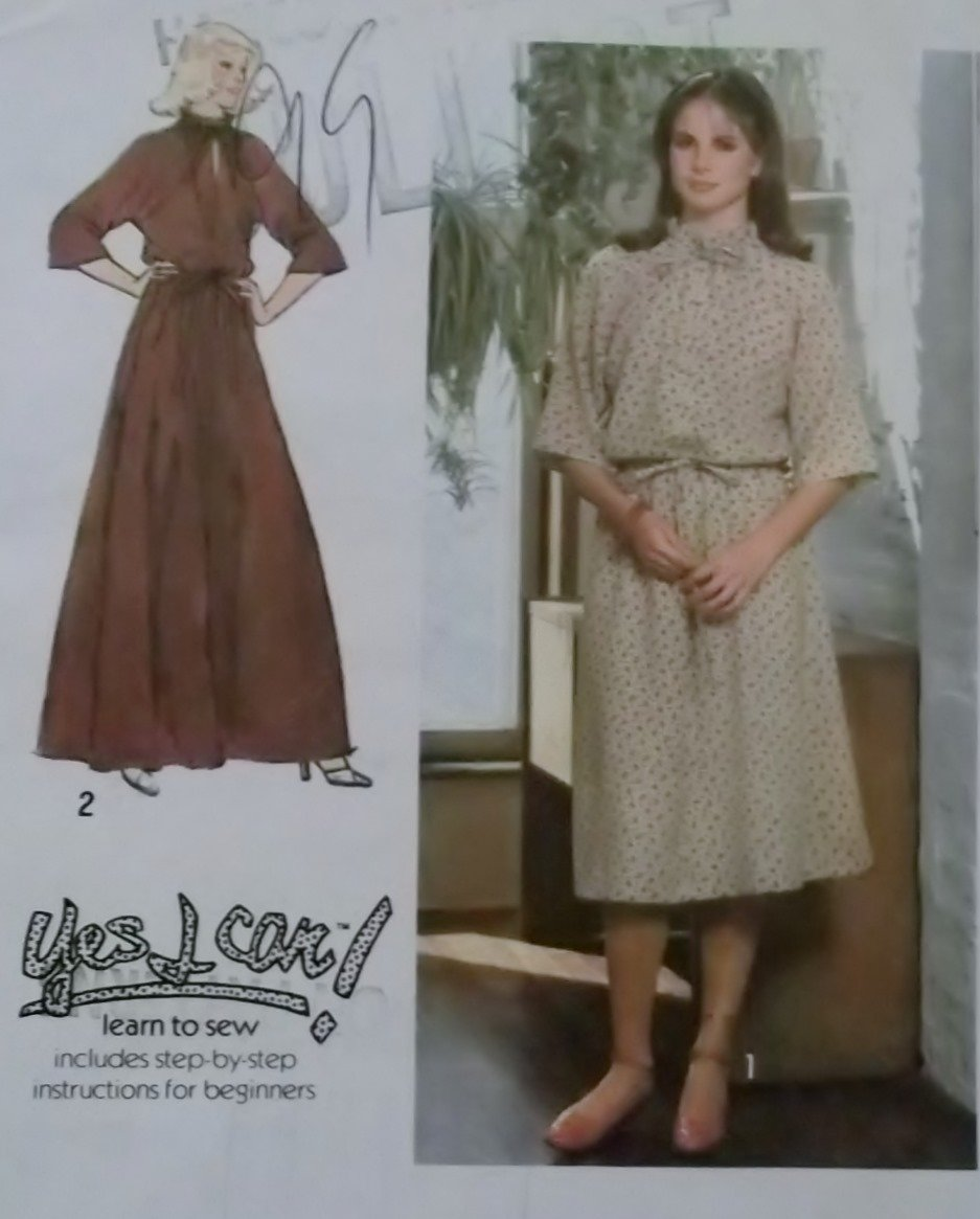 Misses' Pullover Dress in 2 lengths Simplicity 8741 Pattern, Size 12, Uncut