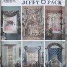 Jiffy Six Pack Window Treatments Simplicity 7721 Patterns, Uncut