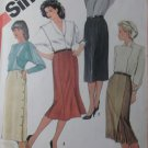 Vintage Simplicity 6234 Sewing Pattern Slim Skirt Sz 12,  Uncut