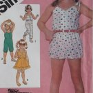 Vintage Simplicity 5951 Pattern, Child's Jumpsuit in 3 lengths & Sundress, Sizes 3, 4, 5  UNCUT
