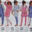 OOP Butterick 5124 Pattern, Easy Girls Top Jumper Jumpsuit Skirt & Leggings, Size 7 8 10, Uncut FF