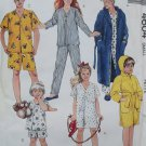 McCalls 4604 Sewing Pattern Easy Girls Boys Robe and Sleepwear, size 6 7 , Uncut