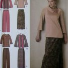 Easy Misses' Top Pants Skirt & Scarf Simplicity 4886 Pattern, Plus Sizes 10, 12, 14, 16, 18 UNCUT