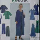Simplicity 8171 Sewing pattern for Misses Dress, Jacket, Pants & Sash, Plus Size L XL, UNCUT