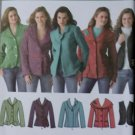 Misses' Jackets and Vest Simplicity 4032 Pattern, Plus Sz 16 to 24, Uncut