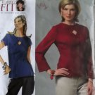 Sandra Betzina Design Today's Fit, Misses' Top Vogue V 2967 Pattern, Plus Size OSZ, UNCUT