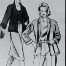 Drop Shoulder Jacket Stretch and Sew pattern 1007,  plus size 28 to 44, Unopened
