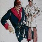 Vintage Mens Robe KWIK Sew 634 Pattern,  S, M, L, XL, Unopened